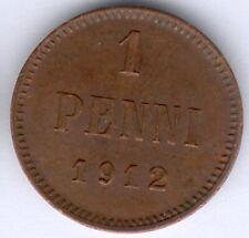 Finnland Nikolaus II. (1894-1917) 1 Penni 1912 (Cu.) KM#13, vz zu fast vz/st