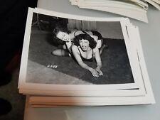 4 X 5 ORGINAL NEGATIVE PHOTO FROM IRVING KLAW FEMALE WRESTLING SERIES #5598