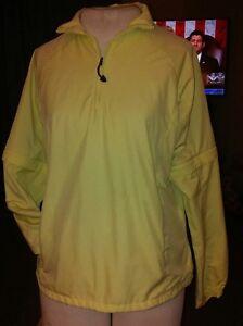 Womens Yellow Nike Fit Storm Zip Off Sleeve 1/4 Zip Golf Jacket Sz Small(4-6)