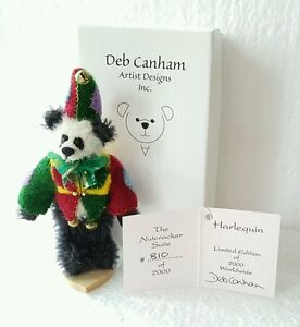 Deb Canham Harlequin Miniature Panda Bear from Nutcracker Suite Series
