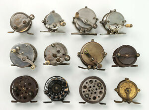 Lot of 12 Vintage Antique Fishing Fly and Casting Reels