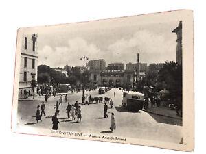 Constantine.  Avenue Aristide Briand.  Algeria. Vintage Postcard