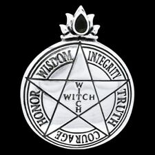 Witch Pentagram Pendant Sterling Silver Witchcraft Wicca Pentacle Peter Stone
