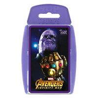 OFFICIAL MARVEL COMICS THE AVENGERS INFINITY WAR TOP TRUMPS PLAYING CARD GAME