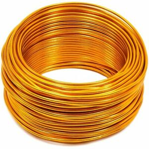 101 Ft 12 Gauge Aluminum Wire for DIY Art & Crafts Jewelry Making, Golden Yellow