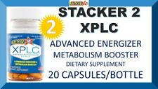 2 Stacker2 2 XPLC Weight Loss Advanced Energizer Booster 20 Capsules (2 Bottles)