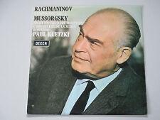RACHMANINOV SYMPHONY 3-MUSSORGSKY-RECORDS-DECCA SXL 6399-UNBOXED-STEREO-KLETZKI