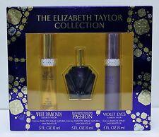 THE ELIZABETH TAYLOR COLLECTION Set EDT For Women Perfume Fragrance NIB