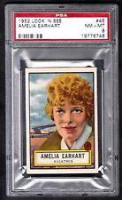 1952 TOPPS LOOK N SEE #45 AMELIA EARHART NM-MT PSA 8 ONLY TWO HIGHER SHORT PRINT