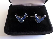 U.S Military Air Force Wings Logo Cufflinks With Jewelry Box 1 Set Cuff Links