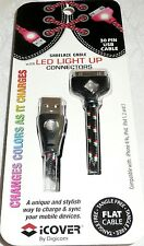 Digicom iCover SHOELACE USB CABLE LED Light Up Connectors iPhone, iPod & iPads