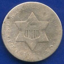 1851 United States Silver 3 Cent Coin (0.8 Grams .750)