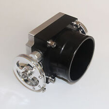 "80MM 3.15"" Universal Throttle Body 80MM High Flow Aluminum  Intake Manifold BLAC"