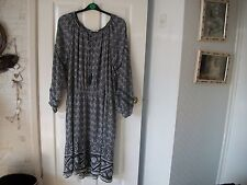 Print Dress from NEXT with long sleeves& tie neck size 22