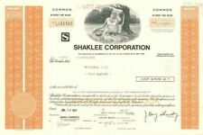 Shaklee Corporation - Stock Certificate