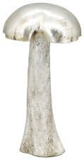XXL Pilz 35 cm silber Deko Herbst Winter Shabby Landhaus Shabby
