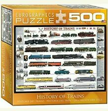 EuroGraphics 500 Pc Puzzle- History of Trains - Transportation Collection - NIB