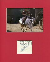 Alex Karras Blazing Saddles Mongo Rare Signed Autograph Photo Display