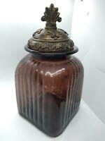 Vintage Glass Jar With Lid