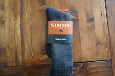 NWT Simms Fishing Wading Sock, Gunmetal Color, Size XL (12+) Merino Wool Sock