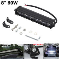 "8"" 60W LED Work Light Bar Driving Lamp Fog Off Road SUV Car Boat Truck New 2019"