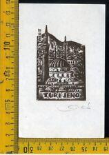 Ex Libris Originale Karoly Andrusko Jugoslavia  b 355 Turi Jeno