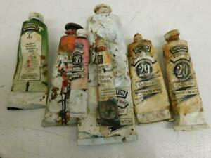 old paint artist art old artists oil painting tubes as found