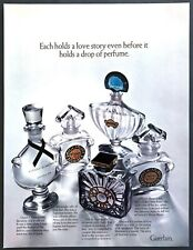 1970 Guerlain 5 Bottles of Perfume photo Shalimar Mitsouko Etc. vintage print ad