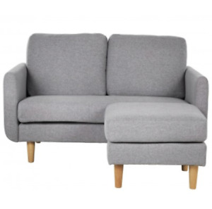 BRAND NEW HABITAT - Remi 2 Seater Fabric Chaise in a Box Sofa - Natural