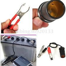 12V Car Auxiliary Clip-on Cigarette Lighter Socket Battery Clip Power Adapter US