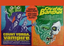 COUNT YORGA the Vampire / CRY OF THE BANSHEE dbl repro uk quad poster 30x40""