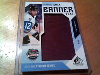2016-17 JAROME IGINLA SP GAME USED BANNER YEAR STADIUM SERIES # BSS-JI
