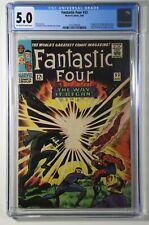 Fantastic Four #53 CGC 5.0 Marvel 1966 1st App of Klaw, 2nd of Black Panther