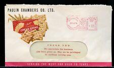 PEERLESS CREAM SODAS crackers multi colour advertising 1955 cover Canada