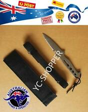 Stainless Scuba Diving Camping Snorkelling Spearfishing Knife + Straps & Sheath