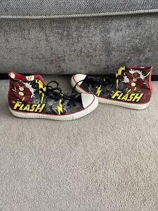 The Flash DC Comics Converse Hi Tops Size 11UK