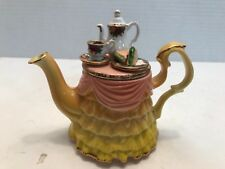 "Royal Albert ""Old Country Roses"" Earthenware Yellow Teapot Made in England"