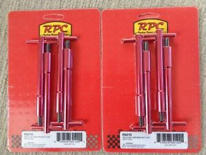 VALVE COVER T-BAR WING NUTS RED SB CHEV 283/327/350