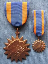 Original Vn-War period Us Air Medals, full size and mini-medal