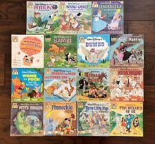 Vintage Disney See Hear Read Paperback Book Lot of 16 Cinderella Peter Pan Alice