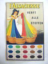 affiche ancienne carton publicitaire teinture Alsacienne 1930 Alsace néerlandais