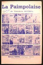 Partition Ancienne - La Paimpolaise - Théodore Botrel - Eds. Fortin - 1950