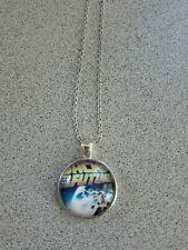 BACK TO THE FUTURE MOVIE UNISEX SILVER PENDANT NECKLACE ADULT / KID NEW