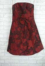 KAREN MILLEN Corset Dress Sz UK 10  Black, Red Floral Print