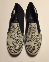 Converse Slip-on Black And White Men's Size 11 1/2-12 Deck Star Sneakers