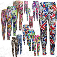 Polyester Floral Leggings (2-16 Years) for Girls