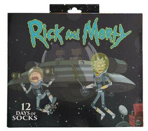 Men's RICK & MORTY 12 Days of SOCKS Advent Calendar Gift Lot