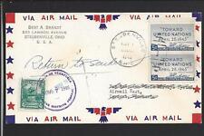 STEUBENVILLE, OHIO 1946 AIR MAIL COVER TO VENEZUELA,, RETURN TO SENDER.