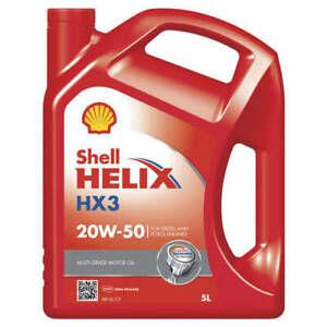 Shell Helix HX3 Engine Oil 20W50 SL/CF 5L fits Honda N 600 (31 kW)
