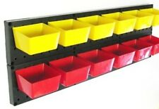 10 NEW Pegboard Storage Bins - 5 Red & 5 Yellow - Workbench Pegboard Garage 10RY
